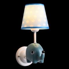 【壁灯】贺曼8100-1小象 小马 小熊 独角兽 现代儿童房铁艺简约小孩房布艺壁灯(Ⅴ)