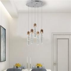 【吊灯】威旺A7383(25W)现代简约复式别墅酒店餐厅吧台水晶吊灯(Ⅴ)