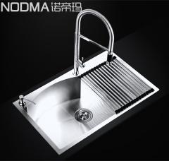 【手工槽加厚面板系列】诺帝玛水槽NU582,750*460*220(Ⅰ)