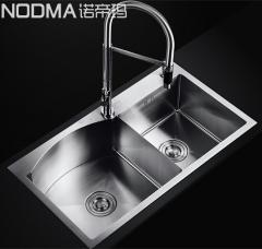 【手工槽加厚面板系列】诺帝玛水槽NU585,800*450*220(Ⅰ)