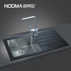 【手工双槽系列】诺帝玛水槽NU863,860*510*220(Ⅰ)