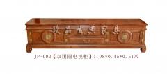 【双团圆电视柜】玖品红木刺猬紫檀 1.98m*0.45m*0.51m(Ⅲ)