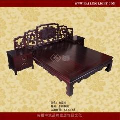 【床】海菱非洲紫檀如意床H-000019,227*295*100(IV)