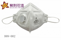 【紫荆花】防护PM2.5呼吸阀活性炭口罩(头戴式)D09-002,5个/盒,100个/箱(Ⅲ)