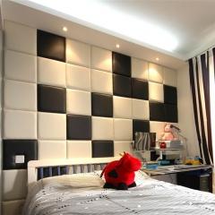 【欣宜软包】欣宜方形客厅卧室沙发电视床头隐形门软包背景墙 (Ⅰ)