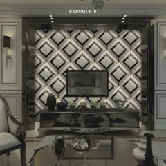 【瓷砖背景墙】欧卡登电视沙发艺术组合背景墙 巴洛克斯B (Ⅲ)