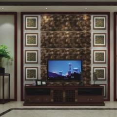 【瓷砖背景墙】欧卡登电视沙发艺术组合背景墙 御庭(Ⅲ)