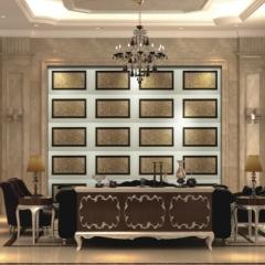 【瓷砖背景墙】欧卡登电视沙发艺术组合背景墙 美时美刻(Ⅲ)