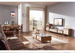 【客厅家具】生态家FF 北欧现代客厅餐厅组合实木配板+大理石 568#(Ⅲ)