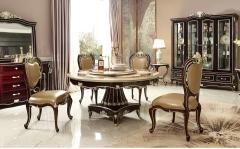 【餐厅家具】生态家美国进口桦木、榉木BB圆餐台GT-003#、A010餐椅(Ⅲ)