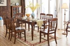 【餐厅家具】生态家橡木PF餐桌T808、T207餐椅(Ⅲ)