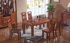 【餐厅家具】生态家香柏木CBY餐桌B-0016#、B-0018#餐椅(Ⅲ)