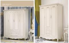 【卧室家具】生态家进口橡木+板木JS四门衣柜6001#、三门衣柜6002(Ⅲ)