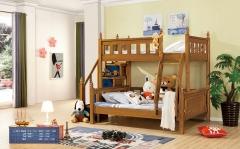 【儿童家具】生态家QFYJ楸木儿童双人床A8019# (Ⅲ)
