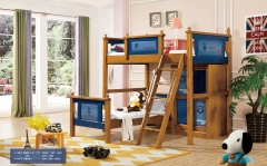 【儿童家具】生态家QFYJ楸木上下儿童床搭配衣柜款A8016#(Ⅲ)