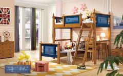 【儿童家具】生态家QFYJ楸木儿童床搭配书桌椅款A8016# (Ⅲ)