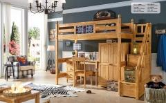 【儿童家具】生态家3DMY橡木高架床组合A815# (Ⅲ)