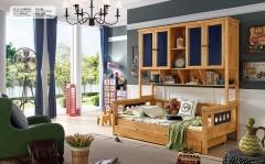 【儿童家具】生态家3DMY橡木衣柜上下床A811# (Ⅲ)