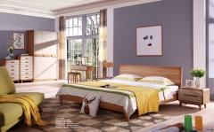 【卧室家具】生态家JJJ北欧BW1001床、BW-3001妆凳(Ⅲ)