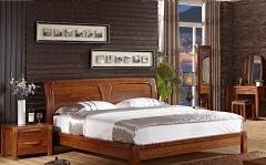 【卧室家具】生态家JX实木床6102#、床头柜6022#(Ⅲ)