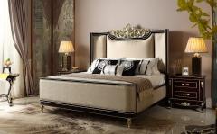 【卧室家具】生态家美国进口桦木榉木BB美式床B019#、GT-003#床头柜(Ⅲ)
