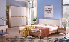 【卧室家具】生态家JJJ床BW1006#、床头柜BW-2001#、五门衣柜BW-6001-B#(Ⅲ)