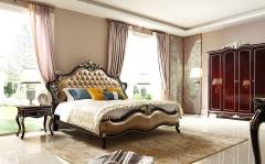 【卧室家具】生态家美国进口桦木 榉木BB美式床B018#、GT-002#床头柜(Ⅲ)